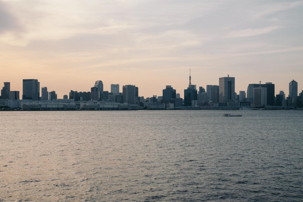レインボーブリッジから見える東京