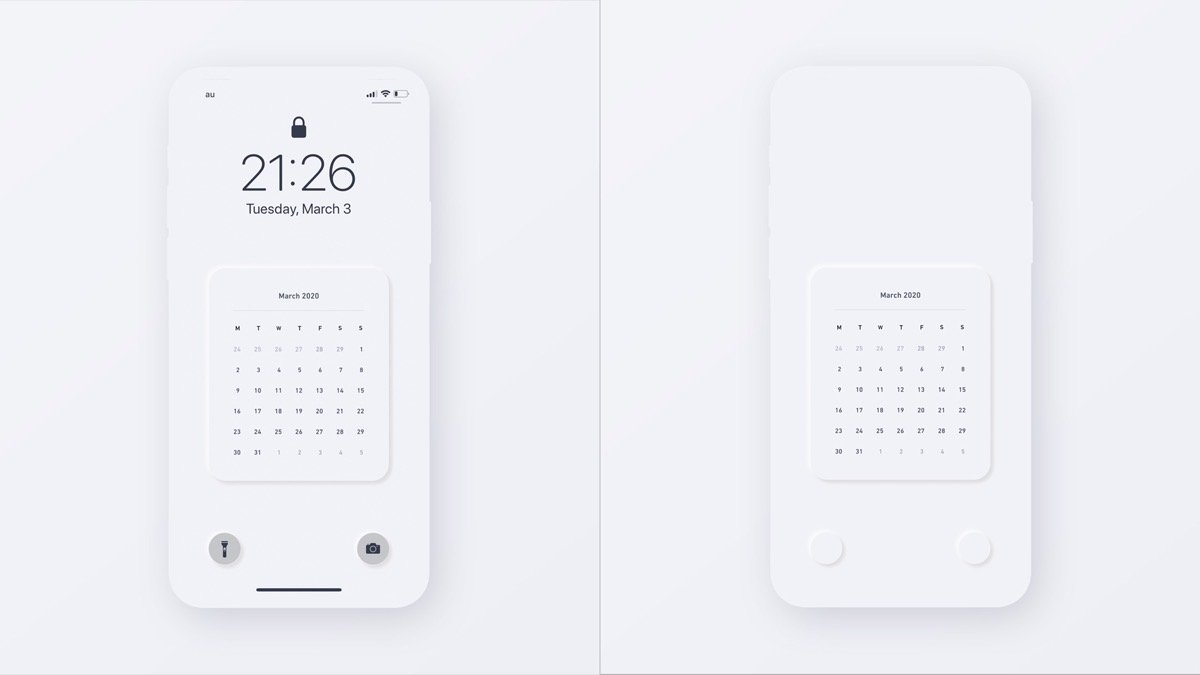 ミニマルなiphone用のロック画面を作りました Yutolog ユトログ